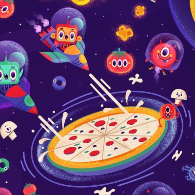 پیتزای فضایی