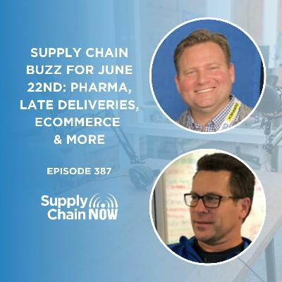 """""""Supply Chain Buzz for June 22nd: Pharma, Late Deliveries, ECommerce, & More"""""""
