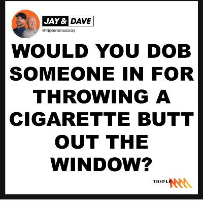 Would You Dob Someone In For Throwing A Cigarette Butt Out The Window Of The Car?