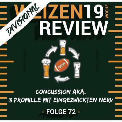 Concussion aka. 3 Promille mit eingezwickten Nerv   Weizenreview Divisional   S2 E72   NFl Football