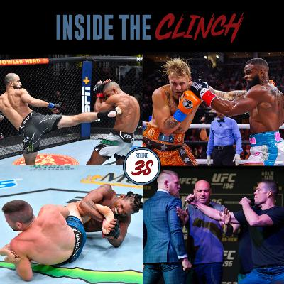 Round 38 - Fight Results for Giga Chikadze vs Edson Barboza & Jake Paul vs Tyron Woodley, Preview of Brunson vs Till, McGregor and Diaz Back At It Again