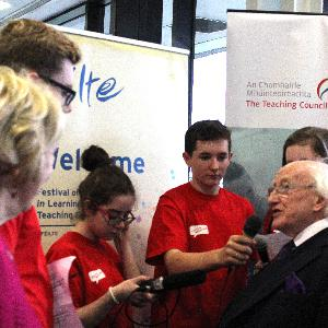 When the Youth Media Team Met the President of Ireland