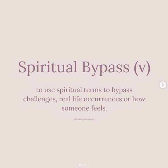 External Spirituality or Spiritual Bypass