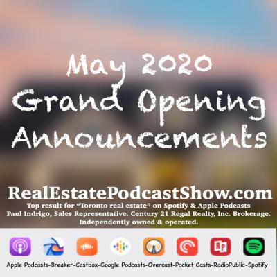 Episode 270: May 2020 Grand Opening 🍾 Announcements