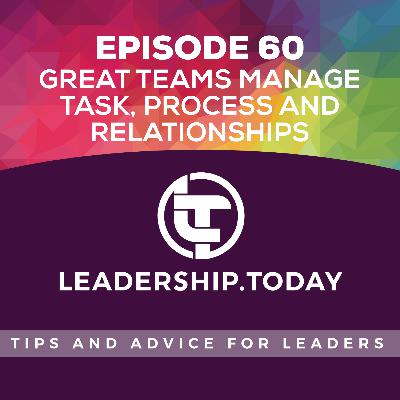 Episode 60 - Great Teams Manage Task, Process and Relationships