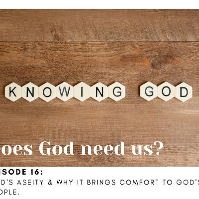 God does not need us...but we need him!  God's Aseity defined.