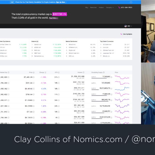 Managing all crypto price data, with Clay Collins of Nomics