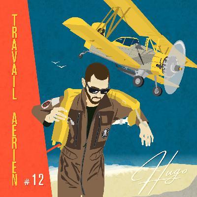 Le travail aérien très basse altitude en biplan avec Hugo