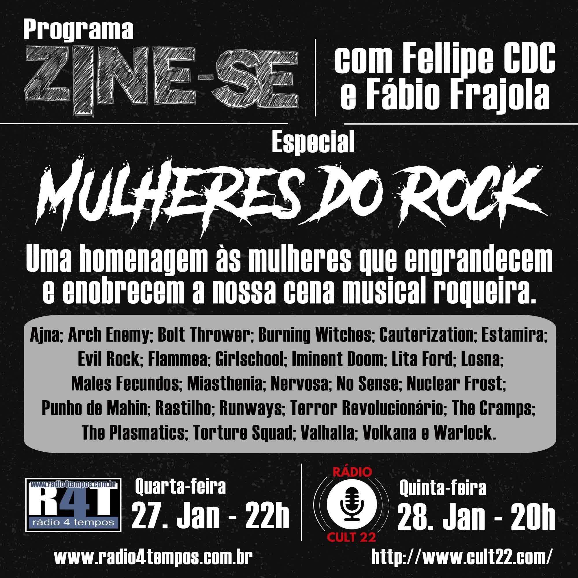 Rádio 4 Tempos - Zine-se 207:CdC e Frajola