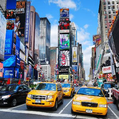 "Tongue-twisters: ""Times Square, squared.""ニューヨーク案内 早口言葉"