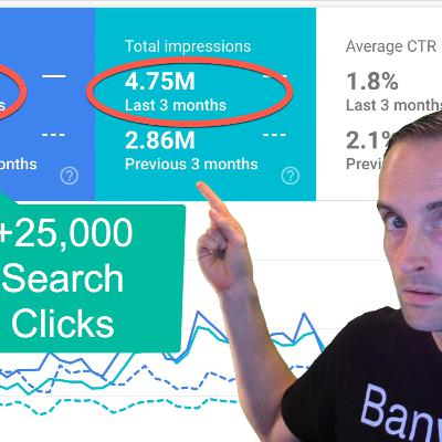 25,000+ More Google Organic Search Clicks in 3 Months!