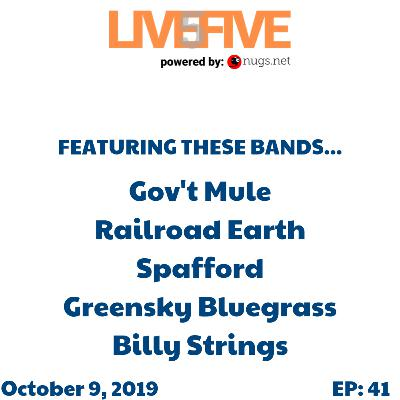 Live 5 - October 9, 2019.