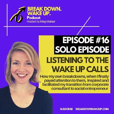 016 - Listening to the wake up calls - solo episode!