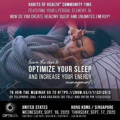 Your LifeBook, Element 19: How Do You Create Healthy Sleep and Unlimited Energy?