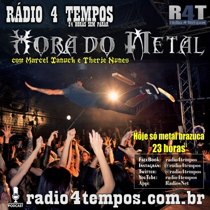 Rádio 4 Tempos - Hora do Metal 179:Marcel Ianuck e Therje Nunes
