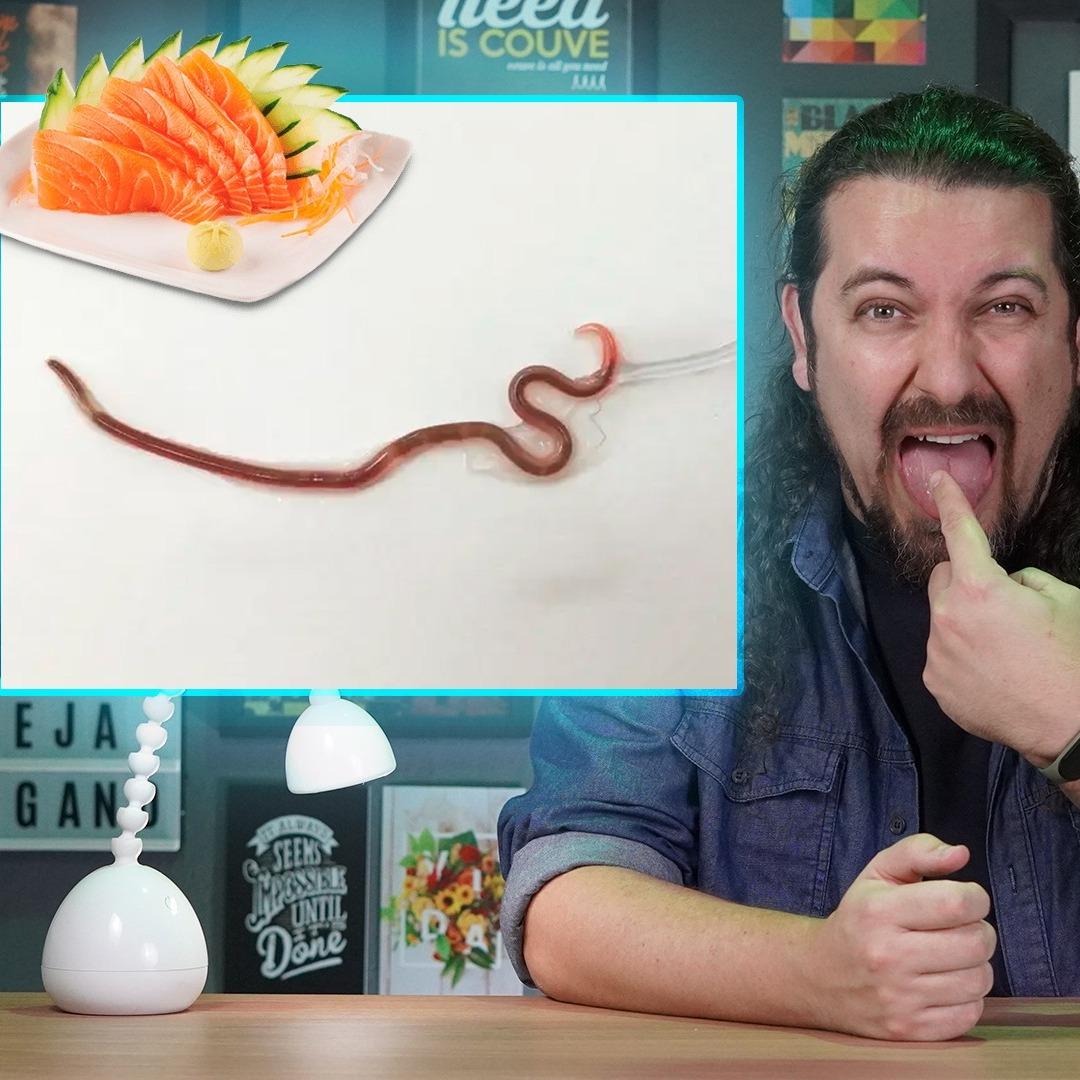 Japonesa come sashimi e ganha verme na garganta + Congresso Nacional tem projeção vegana