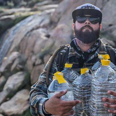 James Cordero of Border Angels Water Drop