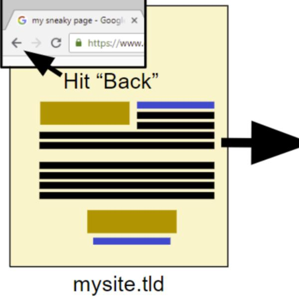 Hijacking the Chrome back button for SEO