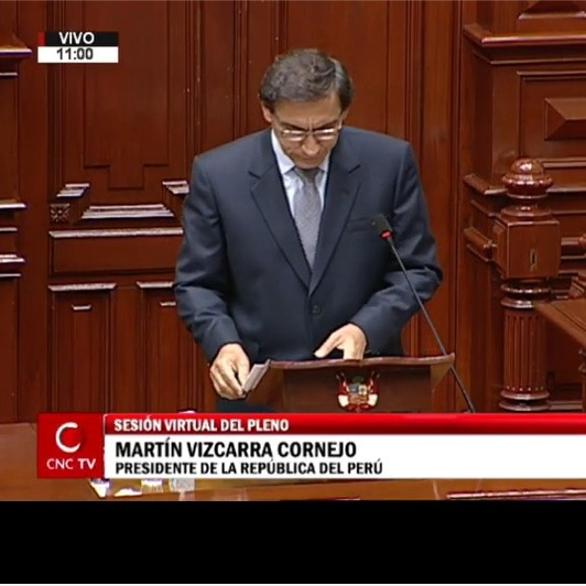 11-09-2020 - Defensa de Vizcarra ante Congreso - vacancia