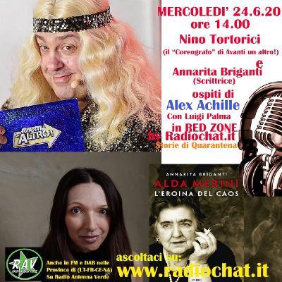 "Nino Tortorici e Annarita Briganti ospiti di ""RED ZONE"" by Radiochat.it"