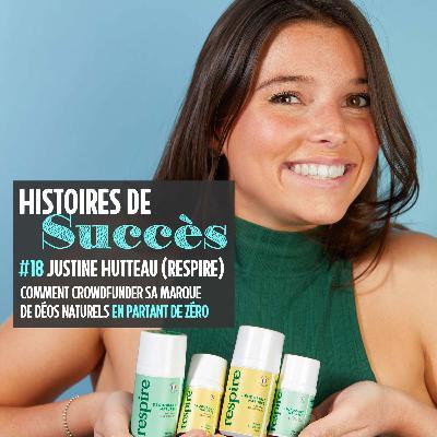 Justine Hutteau a financé ses déos naturels Respire grâce à Internet