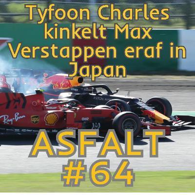 Tyfoon Charles kinkelt Max Verstappen eraf in Japan - ASFALT #64