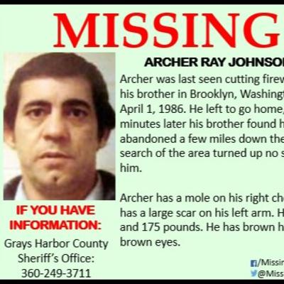 Missing Archer Ray Johnson - 1