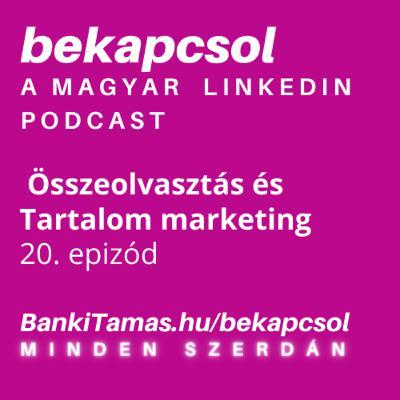 20. epizód - Összeolvasztás és Tartalom marketing