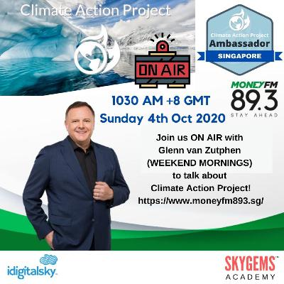 Climate Action Project: Interview with Glenn van Zutphen at MONEY FM 89.3, Weekend Mornings
