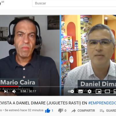 ENTREVISTA A DANIEL DIMARE (JUGUETES RASTI) EN #EMPRENDEDORES ( NM MIAMI RADIO)