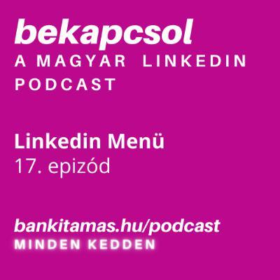 17. epizód - a Linkedin Menü - Bekapcsol, a magyar Linkedin podcast