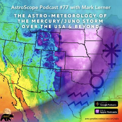 The Astro-Meteorology of the Mercury/Juno Storm over the USA & Beyond