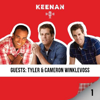 Keenan LIVE 1 with The Winklevoss Twins