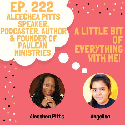 Aleechea Pitts - Speaker, Author & Founder of Paulean Ministries