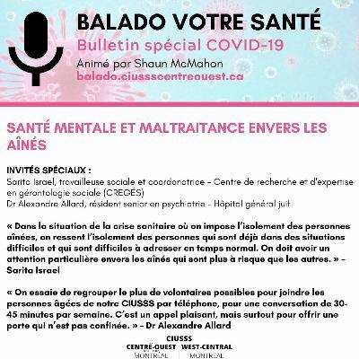 COVID - 19 - Sarita Israel & Alexandre Allard - E052 - Balado Votre Santé