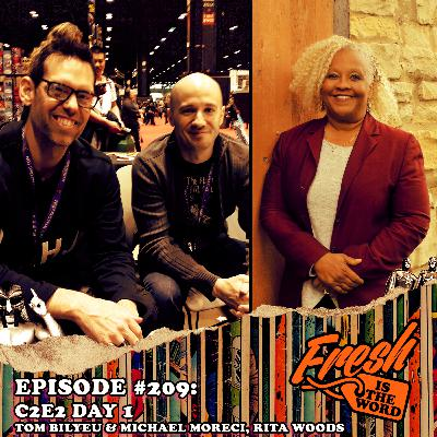 "Episode #209: C2E2 Day 1 – Tom Bilyeu & Michael Moreci (Impact Theory's ""Hexagon"" Comic Book) and Rita Woods (Author of ""Remembrance"")"