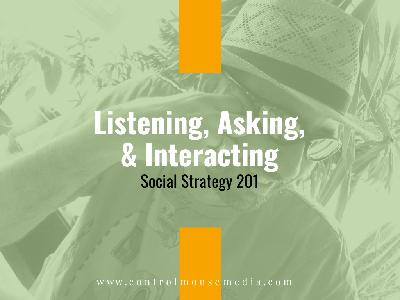 Listening, Asking, Interacting: Social Strategy 201 (Episode 165)