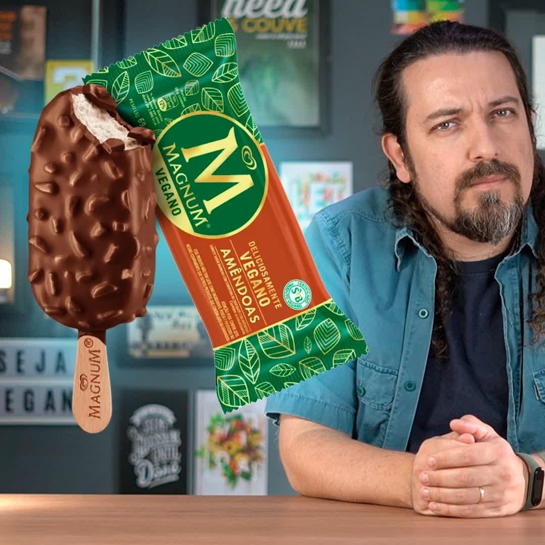 """Por que o Magnum Vegano vem escrito que """"contém lactose""""?"""