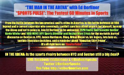 """""""Sports Pulse"""": Shaq vs. Harden, shaky Jets fans, a rioting Olympian, & is Boston vs NY still a thing?"""