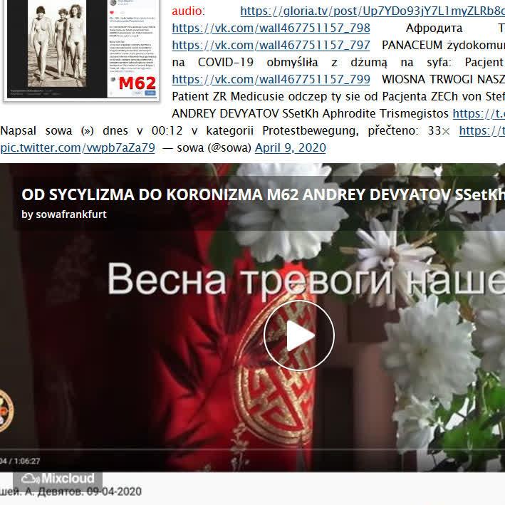 OD SYCYLIZMA DO KORONIZMA M62 ANDREY DEVYATOV SSetKh CORONAMATRIX 2020 FO von Stefan Kosiewski PDNXXIX ZECh PANDEMIA PSYCHOZY ZR