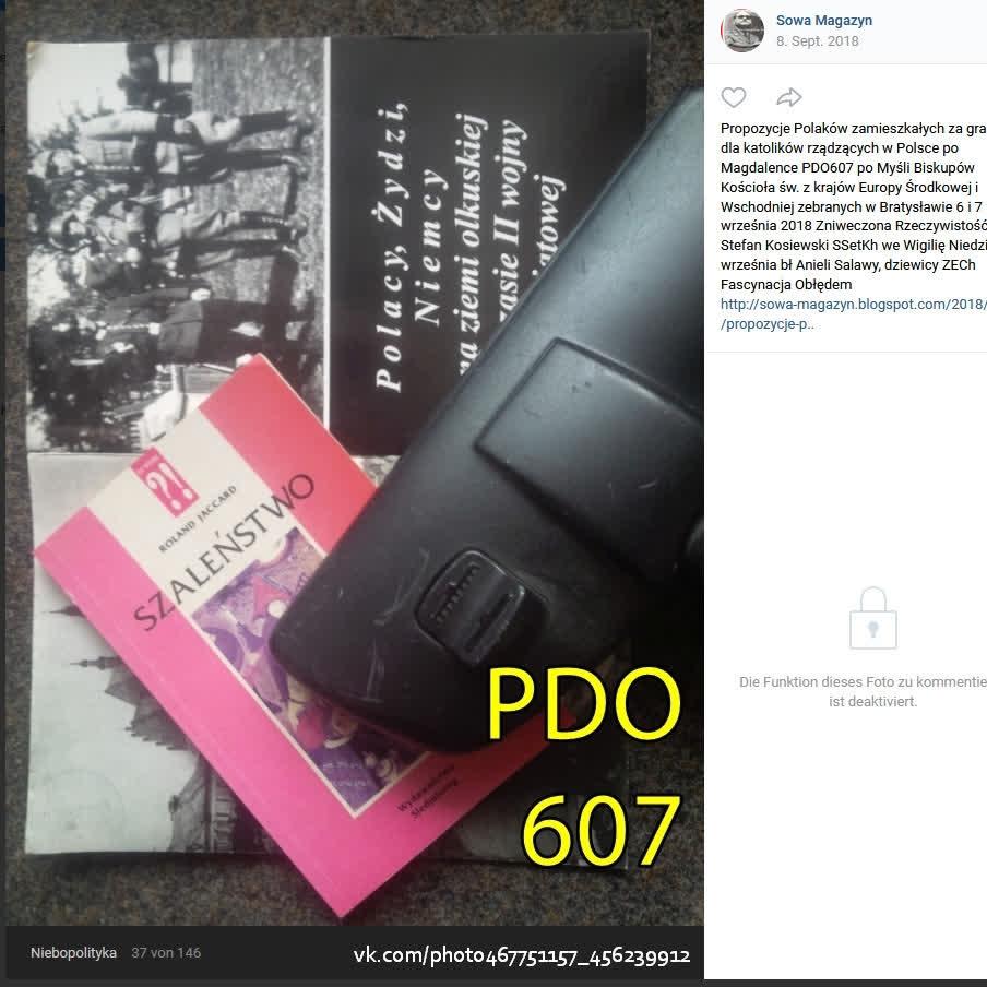 Propozycje Polaków zamieszkałych za granicą dla katolików  rządzących w Polsce po Magdalence PDO607 ZR von Stefan Kosiewski SSetKh ZECh FO 20180909 ME SOWA OD7