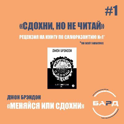 #1 Обзор книги Джон Брэндон — «Меняйся или сдохни» («Сдохни, но не читай»)