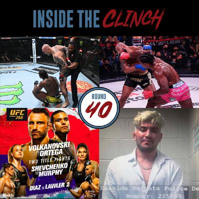 Round 40 - UFC Fight Night 192 Recap, Romero Loses Bellator Debut, UFC 266 Predictions, Dillon Danis Arrested
