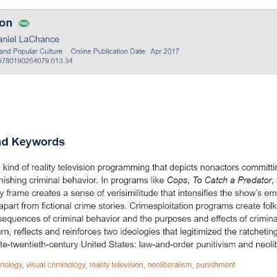 The Exploitation of Crime:  Crimesploitation and the Media Misuse of Reality Crime Stories
