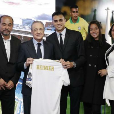 Reinier Jesus Carvalho presented at Bernabeu