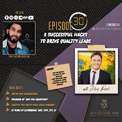 5 Successful Hacks To Drive Quality Leads | Episode #30 | with Johny Pach 📈