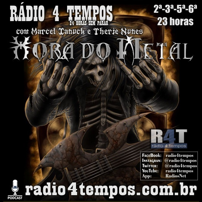 Rádio 4 Tempos - Hora do Metal 182:Marcel Ianuck e Therje Nunes
