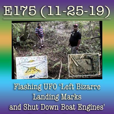 e175 Flashing UFO 'Left Bizarre Landing Marks and Shut Down Boat Engines' in Terrifying Encounte