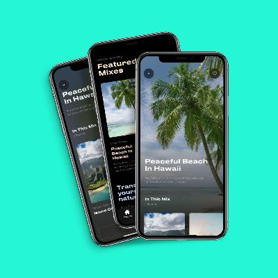 Imagine yourself sitting on a beach in Hawaii 🏖️ Like this mix? Join our waitlist for our upcoming sleep app 👇
