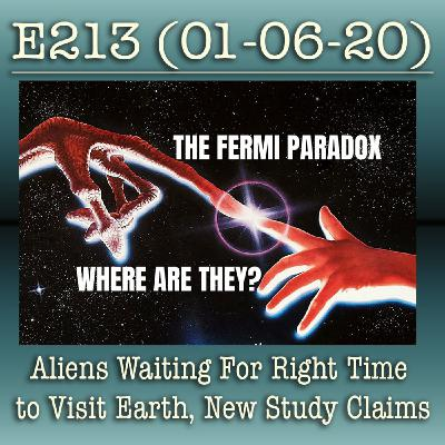 E213 Aliens Waiting For Right Time to Visit Earth, New Study Claims